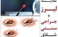 مقایسه جراحی سنتی با لیزر شقاق